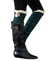 Emerald Button Knit Leg Warmer