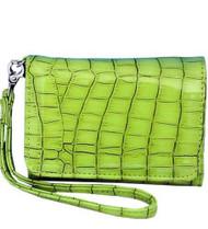 Lime Green Wristlet Wallet Phone Holder