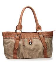Beige Rhinestone Fashion Large Handbag