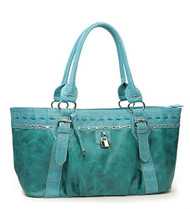 Blue Rhinestone Fashion Large Handbag