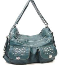 Blue Stone Washed Handbag