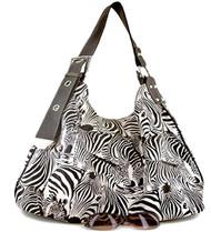 Black Zebra Print Contemporary Style Tote