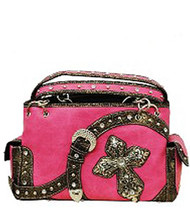Pink Western Buckle & Cross Conceal and Carry Purse
