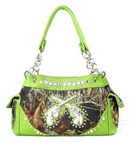 Western Green Camouflage Double Pistol Handbag Purse