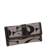 Grey Signature Fashion Wallet
