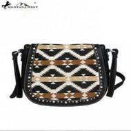 Montana West Aztec Collection Messenger Purse-Black