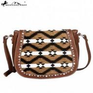 Montana West Aztec Collection Messenger Purse-Brown