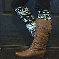 Knit Winter Leg Warmer Boot Accessorie-Black