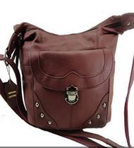 Concealed Carry Handbag Gun Concealment Purse Left/Right Hand 7005 WINE