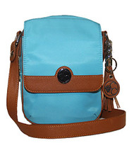 Concealed Carrie Concealed Carry Turquoise Crossbody Handbag