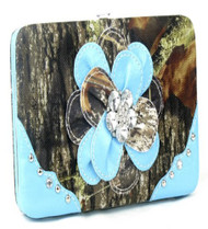Camouflage Blue Flower Wallet
