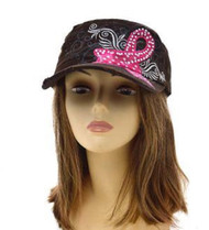 Brown BREAST CANCER AWARENESS FASHION Vintage Original hat