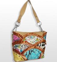 Multi Print Rhinestone Handbag