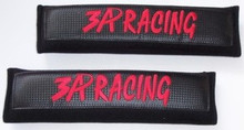 3A RACING Red / Black Seat Belt Shoulder Pads Cushions