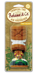 Bahama & Co. Tropical Tiki Bobble Head Air Freshener - Pina Colada
