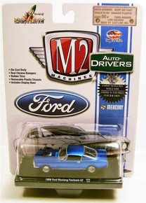 M2 Machines Auto-Drivers 1966 Ford Mustang Fastback 2+2 289 Blue R29 14-15 Diecast