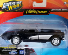 Maisto Adventure Wheels Die-Cast Power Racers - 1957 Corvette Convertible (Black/Silver)