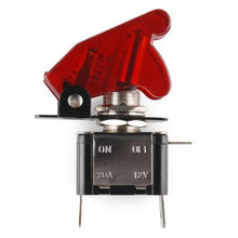 RED LIGHTED TOGGLE SWITCH 12V 20A ON OFF  WITH CLEAR RED COVER