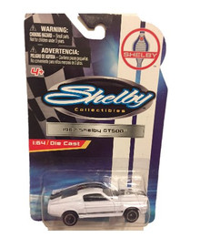 Shelby Collectibles 1967 Shelby GT500 1:64 Scale Die-cast (White with Dual Black Stripes)