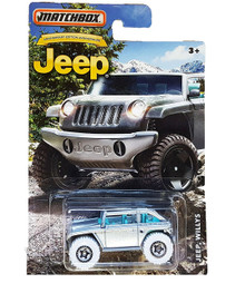 MATCHBOX JEEP ANNIVERSARY EDITION SILVER JEEP WILLYS DIE-CAST