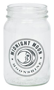 Midnight Moon Moonshine 12oz Drinking Mason Jar