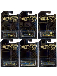Hot Wheels 2018 50th Anniversary Black & Gold 6 Car Set