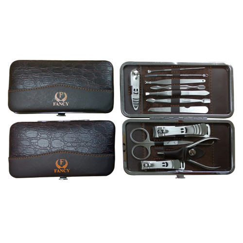 12 Pcs Manicure Set Nail Clippers Cleaner Cuticle Grooming Kit