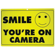 2 (TWO) Smile Your on Camera Surveillance Sign- CCTV Camera Security Warning