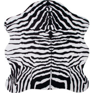 "Wholesale lot of (10) Classic Safari 56"" x 61"" Zebra Print Rug"