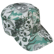 Wholesale lot of (150) Casual Outfitters Grey Skull Camo Design Cap