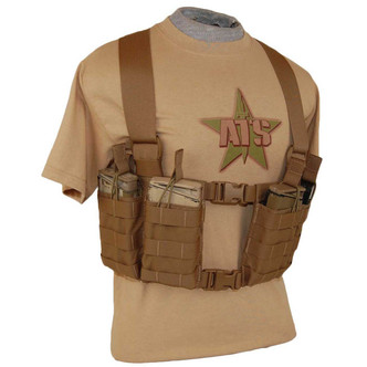 ATS Tactical Gear 7.62 SPLIT FRONT CHEST HARNESS in Coyote Brown