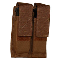 ATS Tactical Gear CAP Double Pistol Mag Pouch in Coyote Brown