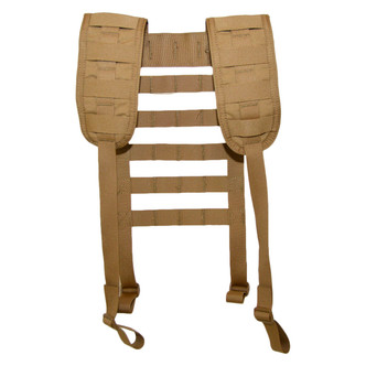 ATS Tactical Gear Padded War Belt Harness in Coyote Brown