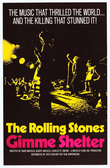 Gimme Shelter Us Poster Art The Rolling Stones 1970 Movie ...