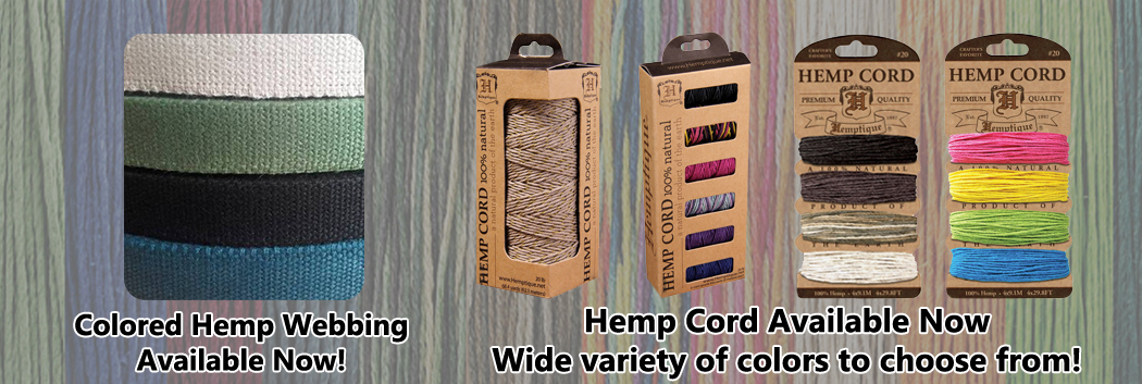 Hemp Webbing Now Available