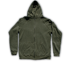 Hemptopia Hemp Zip Up Hoody - Green