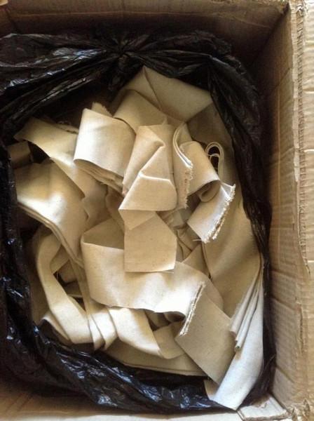 Scrap Hemp Fabric - 100% recycled material scrap fabric