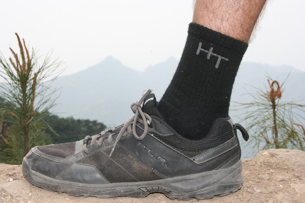 Wearing hemp sock