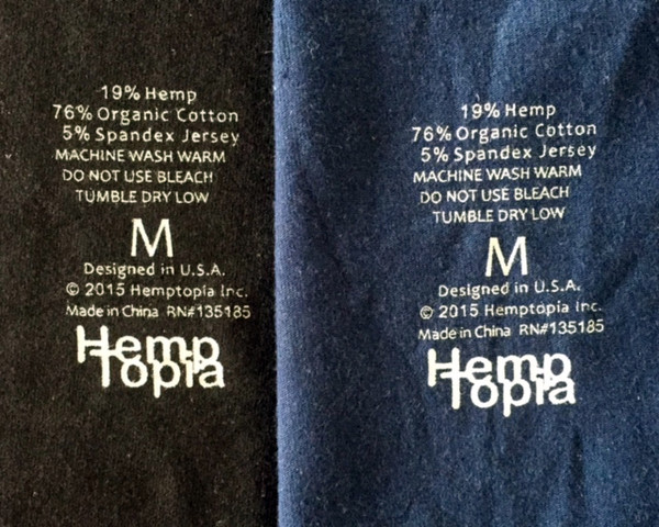 Hemp boxer brief inside printed label