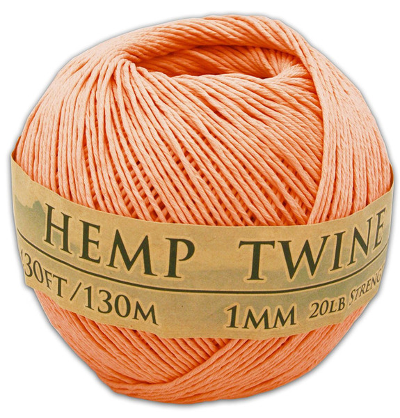 tropical coral hemp twine