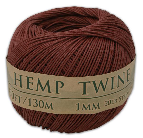 brown hemp twine ball 1mm