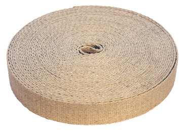 Natural hemp webbing