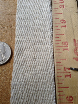 """1.5"""" Hemp Webbing Twill Weave"""