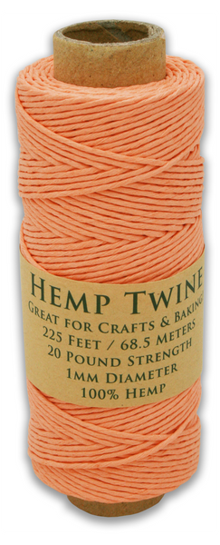 Tropical Coral Hemp Twine Spool