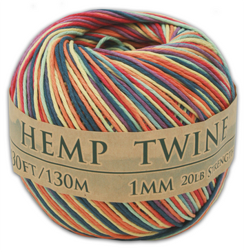 Rainbow Hemp Twine Ball
