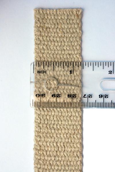 1.25 inch hemp webbing