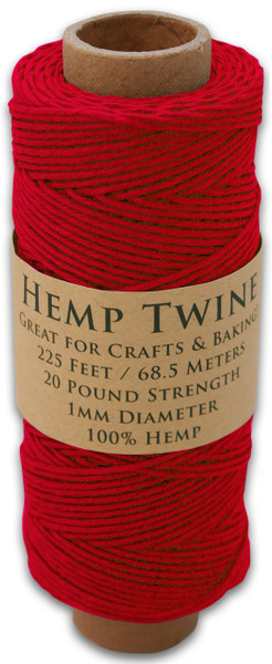 Red Hemp Twine Spool