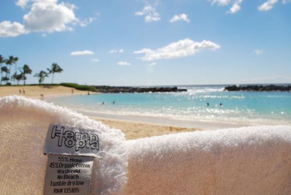 Hemp towel in Hawaii