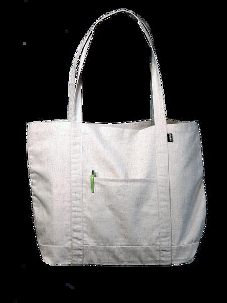 Hemp Tote Bag - The Grocer - Side Pocket