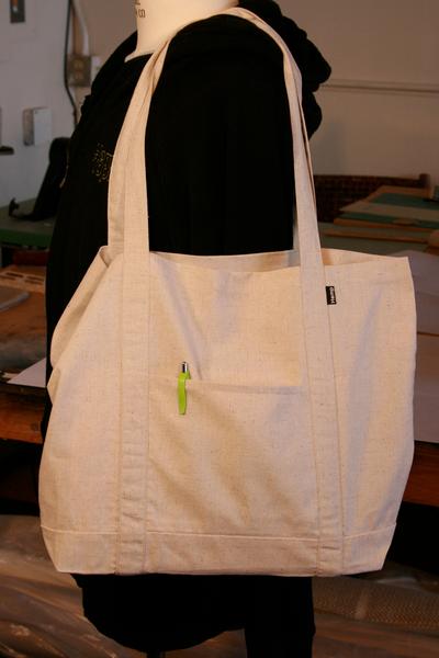 Hemp Tote Bag - The Grocer - Shoulder strap